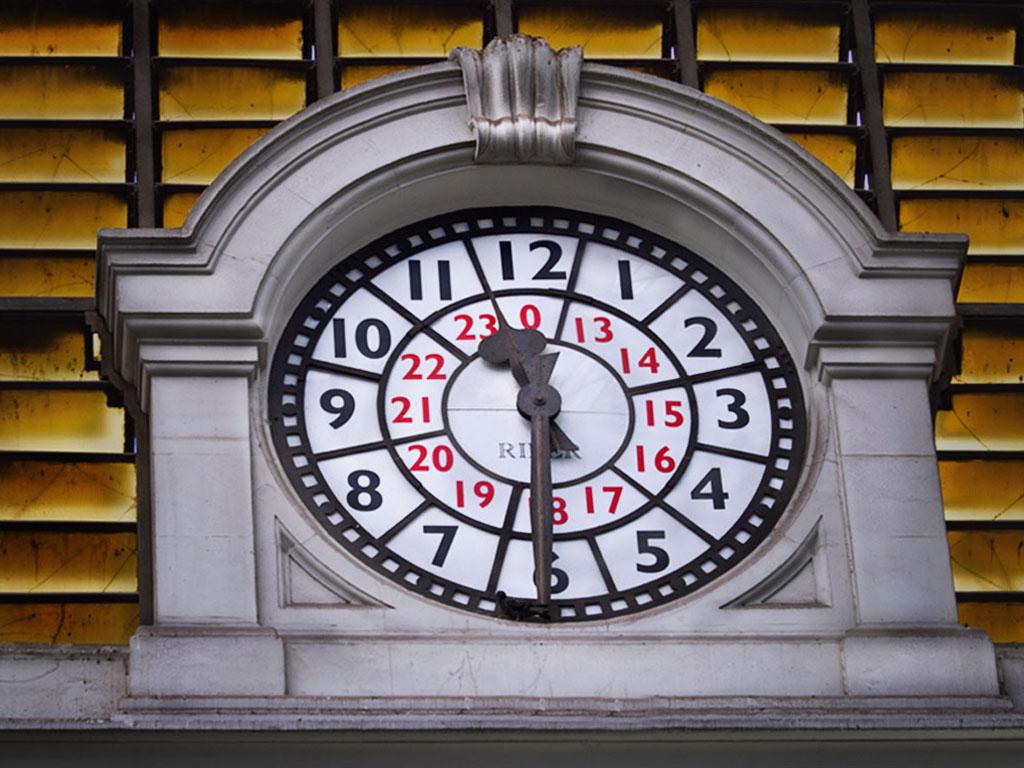 reloj de estacion